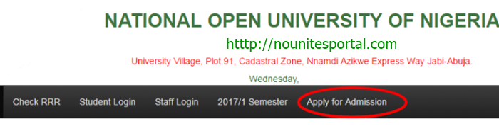 Apply for Noun admission