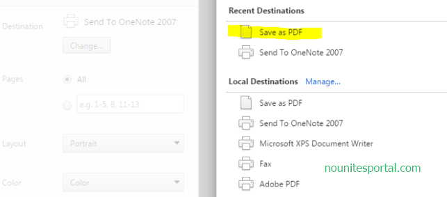 Click on Save as PDF