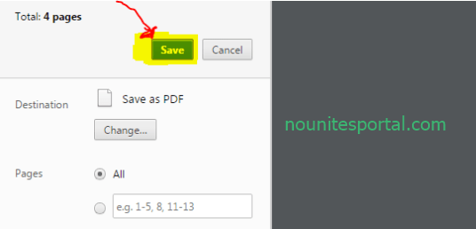 Finally click save to have in on a PDF