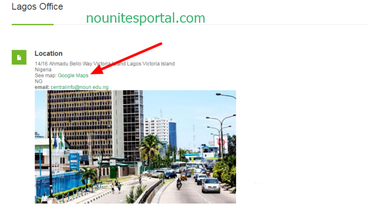 Lagos Office Map Location NOUN Academics