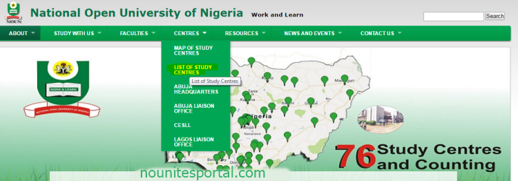 List of National Open University of Nigeria study centres