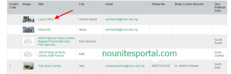 Map of NOUN Locations Lagos office NOUN Academics
