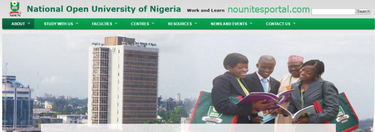 National Open University of Nigeria Edu Website Homepage