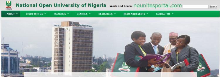 National Open University of Nigeria Edu Website Homepage