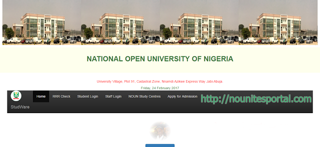 National Open University of Nigeria Nouonline.com Homepage nounitesportal.com