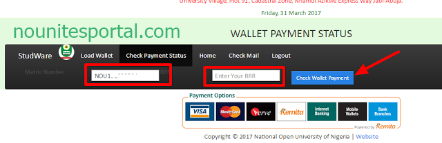 Noun wallet payment status page at the studware