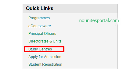 The National Open university of Nigeria study centres quicklinks