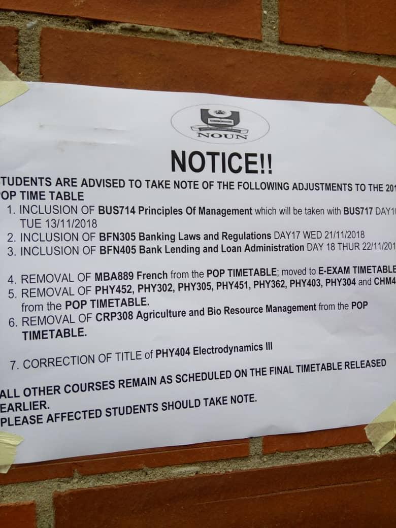 NOUN Notice