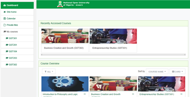 image 6 - Steps For Working With GST TMA Portal – NOUN Learning Space