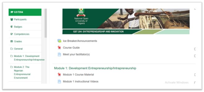 image 7 - Steps For Working With GST TMA Portal – NOUN Learning Space